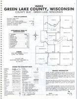 Index Map, Green Lake County 1985